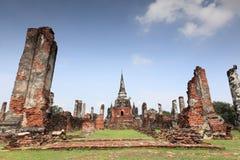 Historische Stad van Si Sanphet van Ayutthaya - van Wat Phra Royalty-vrije Stock Afbeeldingen