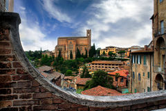 Historische stad van Siena, Toscanië, Italië Stock Afbeeldingen