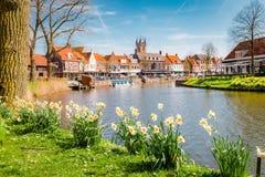 Historische stad van Sluis, het gebied van Zeelandic Vlaanderen, Nederland royalty-vrije stock foto