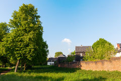 Historische stadsmuur van Bedburg alt-Kaster, Duitsland stock afbeelding