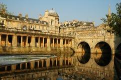 Historische Stadt des Bades stockbilder