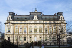 Historische Stadt Hall Building, Nowy Sacz, Polen, Europa lizenzfreie stockfotografie