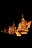 Historische Stadt von Ayutthaya - Wat Phra Si Sanphet Stockfoto