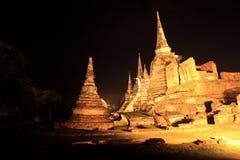 Historische Stadt von Ayutthaya - Wat Phra Si Sanphet Lizenzfreie Stockfotografie