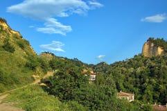 Historische Stadt von Melnik, Bulgarien. Lizenzfreie Stockbilder