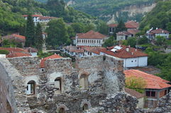 Historische Stadt von Melnik, Bulgarien. Lizenzfreie Stockfotografie