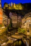 Historische Stadt von Monschau, Deutschland Stockfotografie