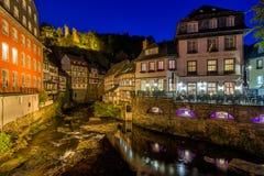 Historische Stadt von Monschau, Deutschland Lizenzfreies Stockfoto