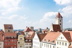 Historische Stadt von Regensburg Lizenzfreie Stockfotos