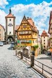 Historische Stadt von Rothenburg-ob der Tauber, Bayern, Deutschland lizenzfreie stockbilder