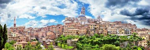 Historische Stadt von Siena, Toskana, Italien lizenzfreies stockbild