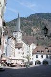 Historische Stadtmitte Chur, die Schweiz Lizenzfreies Stockfoto