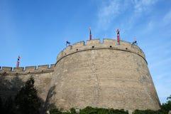 Historische Stadtwand von Xian, China Lizenzfreie Stockfotos