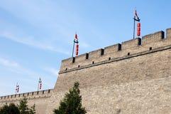 Historische Stadtwand von Xian, China Lizenzfreie Stockfotografie