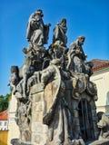Historische Statuen, altes Prag, Tschechische Republik lizenzfreie stockfotos