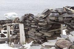 Historische Steinhütte, Paulet-Insel, die Antarktis Lizenzfreie Stockfotos