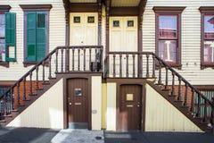 Historische Straße in New York City Lizenzfreies Stockbild