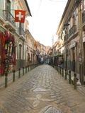 Historische Straßen in der Stadt von La Paz, Bolivien Stockbild