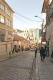 Historische Straßen in der Stadt von La Paz, Bolivien Lizenzfreies Stockbild