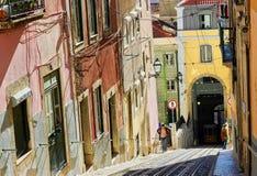 Historische Straßen von Lissabon, Portugal, Stockfotos