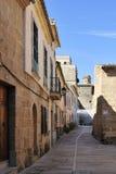 Historische Straat in Alcudia Royalty-vrije Stock Afbeeldingen