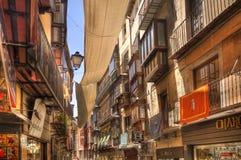 Historische straat in Toledo, Spanje Royalty-vrije Stock Foto's