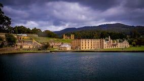 Historische Strafgefangene-Strukturen im Port Arthur, Tasmanien, Australien lizenzfreies stockbild