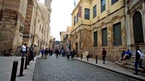 Historische straten van Islamitisch Kaïro, Egypte stock videobeelden