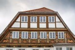 Historische Stunden in Lemgo, Deutschland lizenzfreies stockfoto