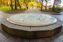 Historische Sydney Cove-kaart op cirkelsteen bij Cirkelkade stock foto's