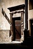 Historische Türen, Sardinien, Italien Lizenzfreies Stockfoto
