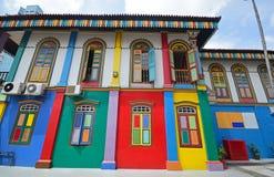 Historische Tan Teng Niah Residence mit kräftiger Farbe Lizenzfreie Stockfotos