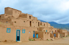 Historische Taos Pueblo Stock Afbeelding