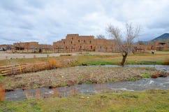 Historische Taos Pueblo Stock Foto's