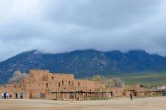 Historische Taos Pueblo Royalty-vrije Stock Afbeeldingen