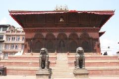 Historische tempel in de oude stad van Katmandu Royalty-vrije Stock Fotografie