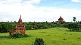 Historische tempels in Bagan Stock Afbeelding