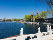 Historische toneelvlek in Peking, China stock foto's