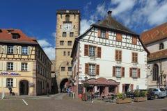 Historische toren in Ribeauville Stock Foto's