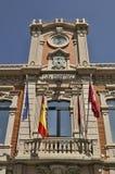 Historische townhalltoren in Albacete - Spanje stock foto's
