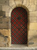 Historische Tür auf Schloss Lizenzfreies Stockfoto
