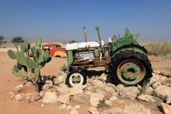 Historische Traktoren in Namibia Lizenzfreies Stockfoto