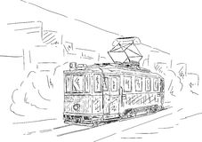 Historische tram Stock Afbeeldingen