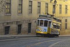 Historische Tram 28, Lissabon Lizenzfreie Stockfotos