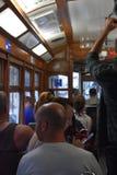 Historische Tram 28 in Lissabon, Portugal Stockfoto