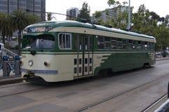 Historische tram van de stad van San Francisco stock foto