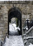 Historische Treden in Rijeka, Kroatië royalty-vrije stock fotografie