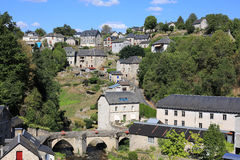 Historische Treignac in Corrèze, Frankrijk Royalty-vrije Stock Fotografie