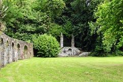 Historische tuin van de abdij in luzerne Royalty-vrije Stock Afbeelding