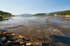 Historische UllÃ-³ Salzebenen, am Ende von Vigo-Bucht, Spanien Lizenzfreie Stockbilder